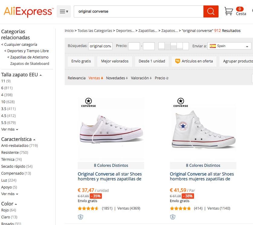 Comprar Converse Baratas en AliExpress