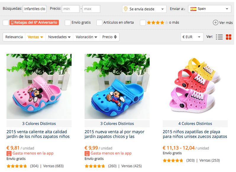 Comprar Crocs Baratos en AliExpress