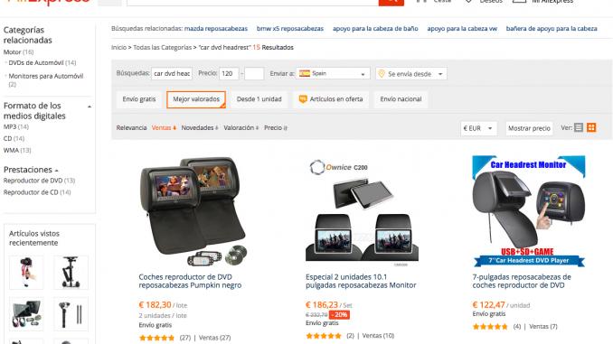 Comprar DVD para Coche en AliExpress